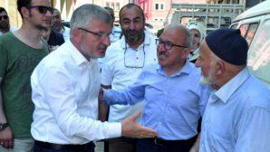 AK Parti Milletvekili Adayı Aydın,  Piraziz'de seçim çalışması yaptı