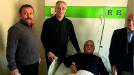 Piraziz Belediye Başkanı  Hüseyin Görgülüoğlu  hastaları yalnız bırakmıyor